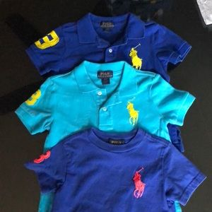 Polo Ralph Lauren brand, size 2T polos and tee.